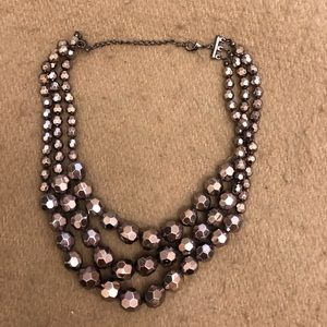 Silver ball necklace
